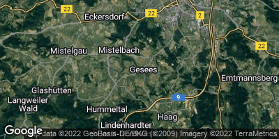 Google Map of Gesees bei Bayreuth