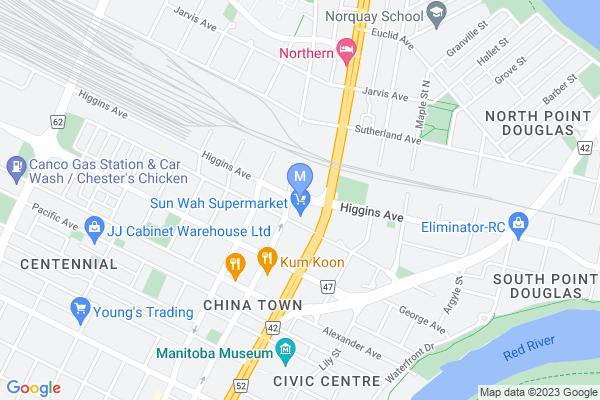 Map of 228 Higgins Ave