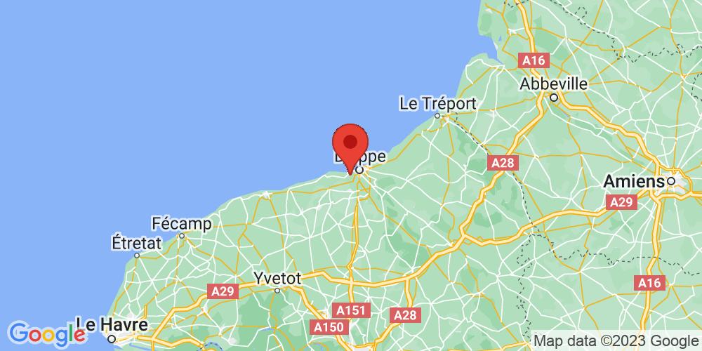Carte du positionnement du camping Le Marqueval