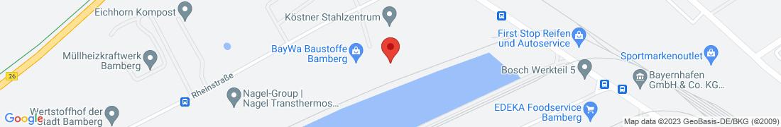 BayWa Baustoffe Bamberg-Hafen Anfahrt