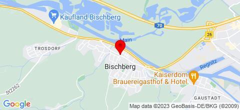 Google Map für Ferienwohnung vor den Toren Bambergs/ Bischberg