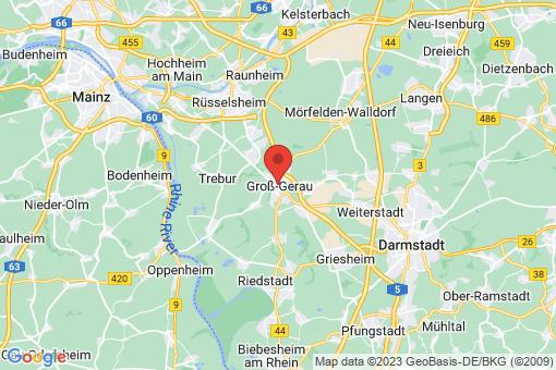 Karte Groß-Gerau