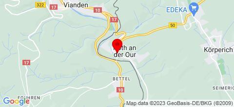 Google Map für Hotel Ourtaler Hof