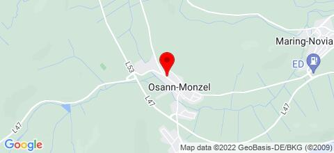 Google Map für Ferienhaus in der Nähe von Wittlich und Bernkastel