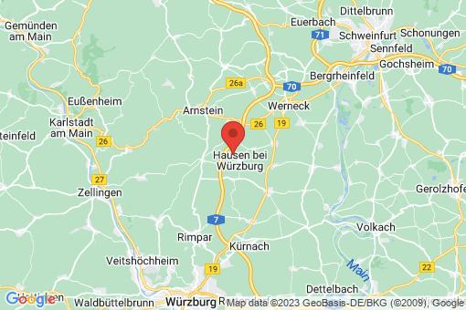 Karte Hausen bei Würzburg