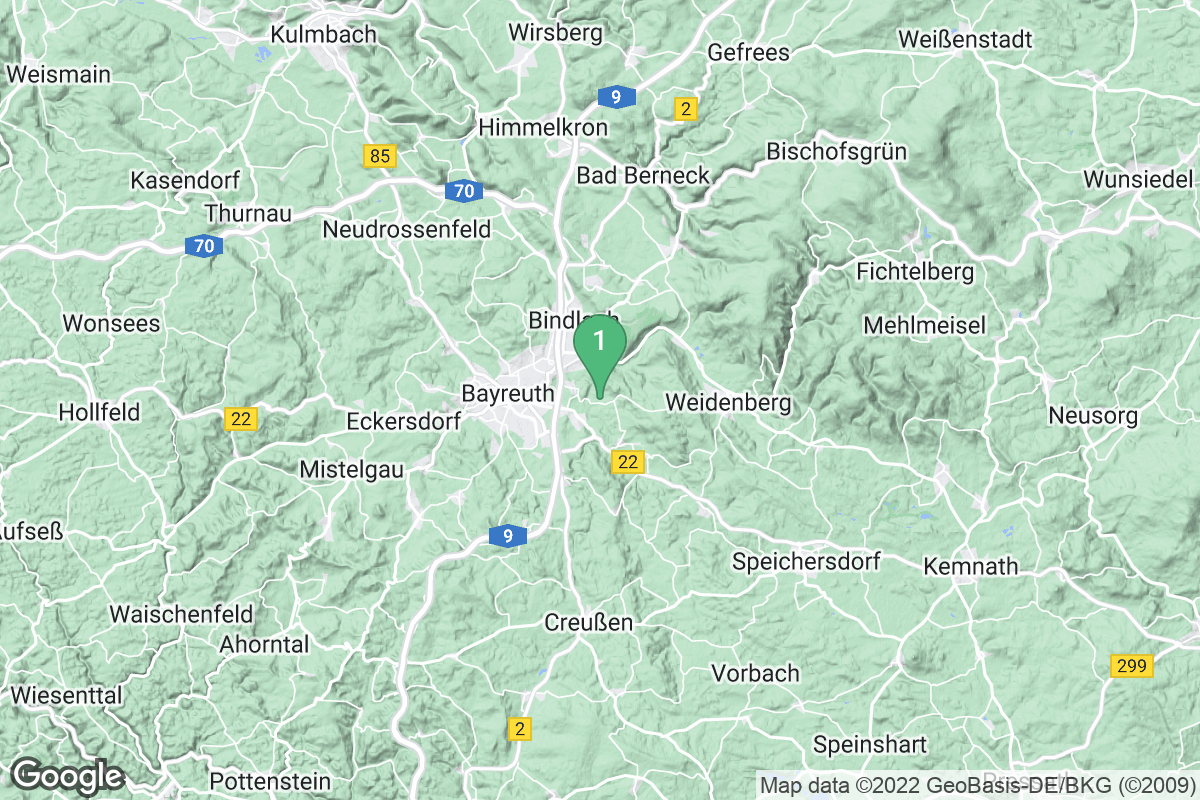 Google Map of Bayreuth-Lohengrin Therme