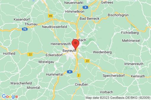 Karte Bayreuth