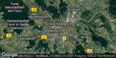 Google Map of Bayreuth