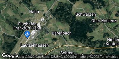 Google Map of Bärenbach bei Simmern