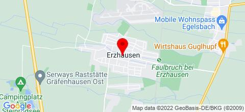 Google Map für Hotel Erzhausener Hof