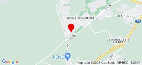 Google Map für Appartment Mainz Lerchenberg