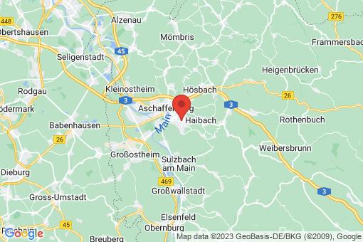 Karte Aschaffenburg