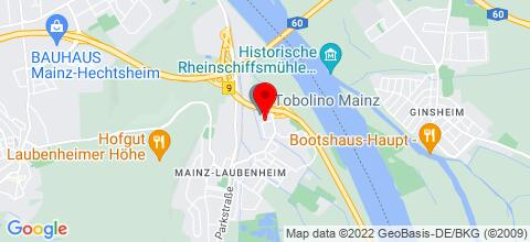 Google Map für Preiswerte Unterkunft in Mainz