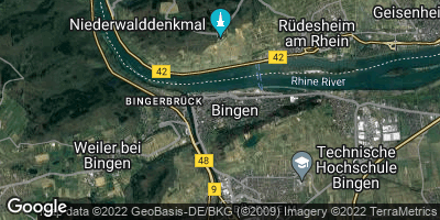 Google Map of Bingen