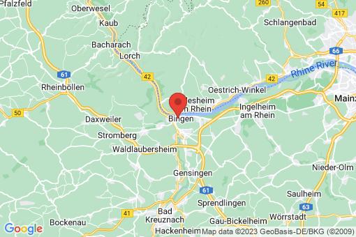 Karte Bingen am Rhein