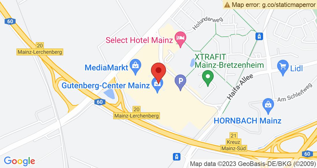 Google Map BÖ SCHUHE Mainz