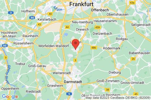 Karte Egelsbach