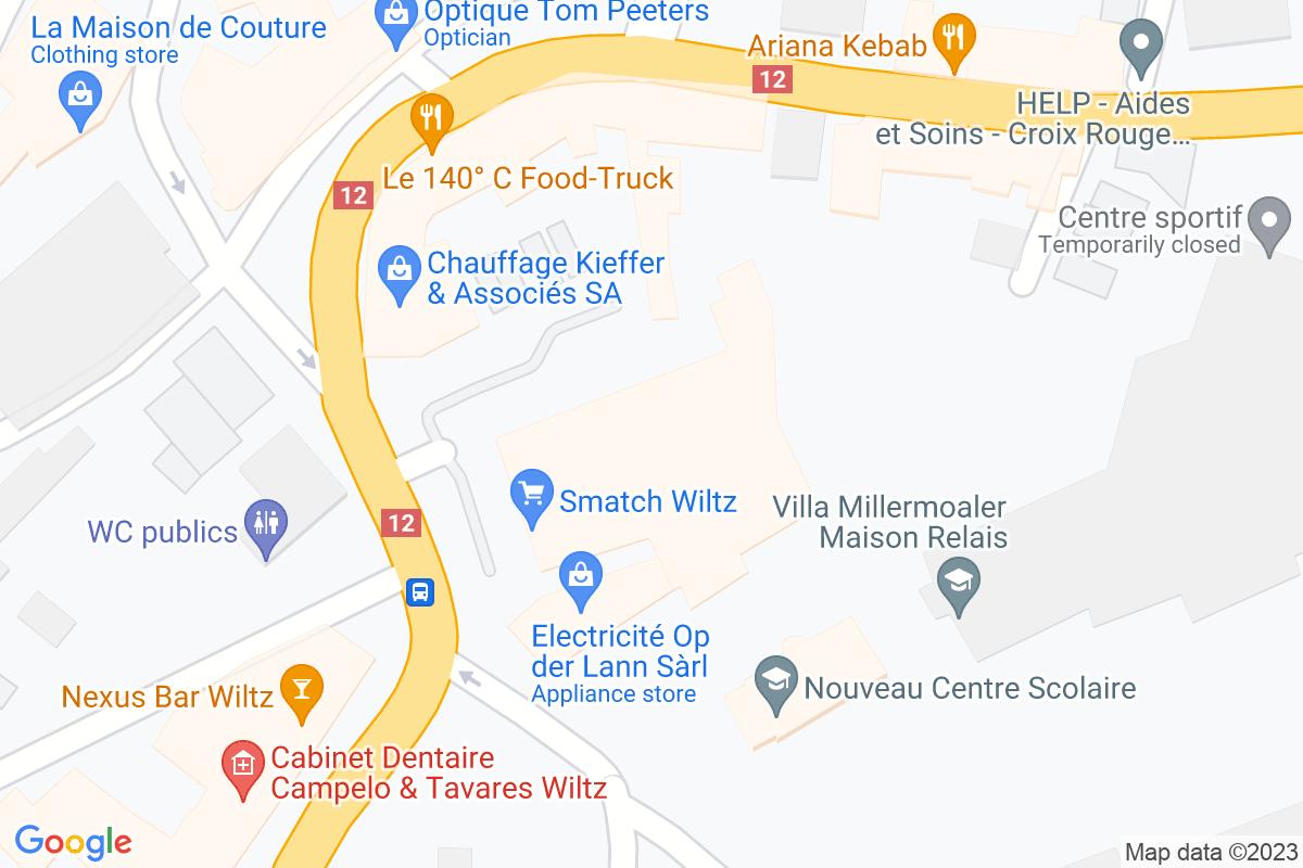situation du Smatch Wiltz