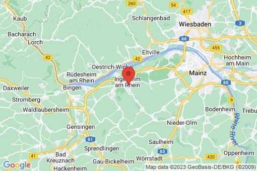Karte Ingelheim am Rhein