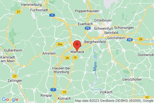 Karte Werneck
