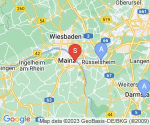 Karte für Disc Golf-Anlage Mainz