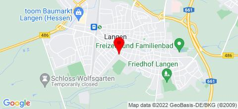 Google Map für Monteurwohnung in Langen