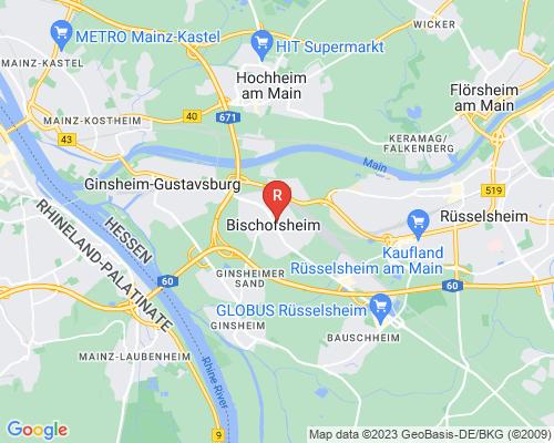 Google Karte von Rohrreinigung Bischofsheim