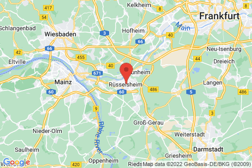 Karte Rüsselsheim