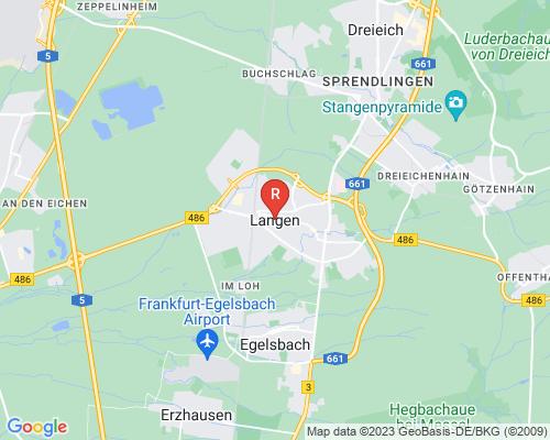 Google Karte von Rohrreinigung Langen