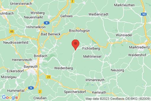 Karte Warmensteinach