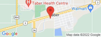 Google Map of 4901+-+46+Avenue%2CTaber%2CAlberta+T1G+2A4
