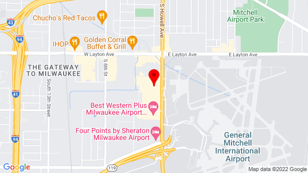 Google Map of 4905 S Howell Ave, Milwaukee, WI 53207