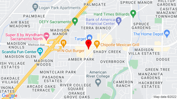 Google Map of 4909 Auburn Blvd., Sacramento, CA 95831