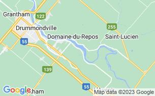 Map of Camping Association Des Pêcheurs Et Chasseurs De Drummondville