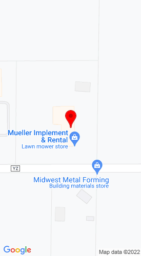 Google Map of Mueller Implement & Rental 4948 Highway YZ, Dodgeville, WI, 53533