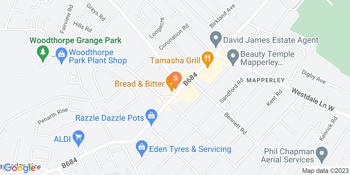 Google Map of 5 - 7 Plains RoadMapperley Nottingham NG3 5JH