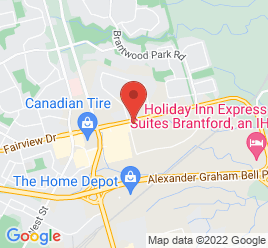 Google Map of 5+Woodyatt+Drive%2CBrantford%2COntario+N3R+7K3