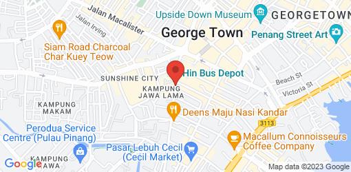 Directions to Wholey Wonder Vegan Cafe and Yoga Studio (Penang)
