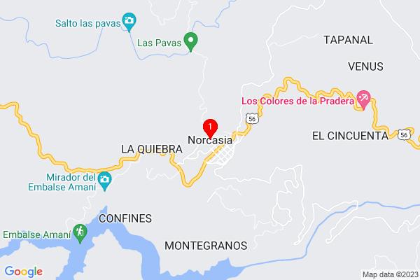 Google Map of 5.576268999999999,-74.88955699999997