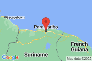 Map of Distrikt Paramaribo