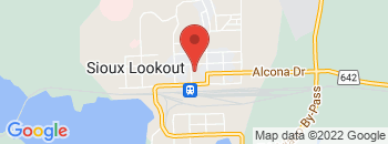 Google Map of 50+KING+STREET%2CSioux+Lookout%2COntario+P8T+1A8