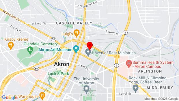 Google Map of 50 N. Prospect Street, Akron, OH 44304