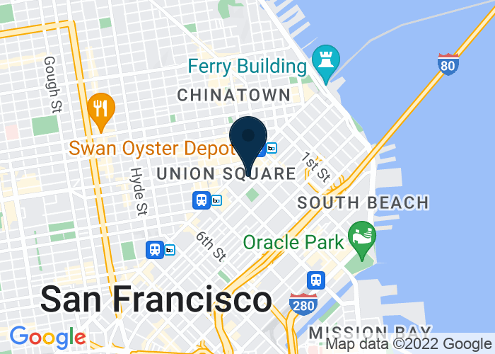 Map of 50 Third Street, San Francisco, CA 94103, United States