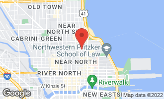Map of 50 East Chestnut Street #3301 CHICAGO, IL 60611
