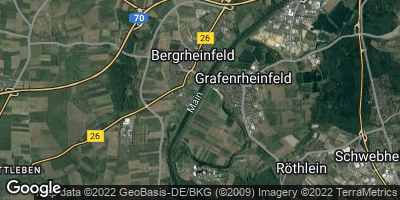 Google Map of Bergrheinfeld