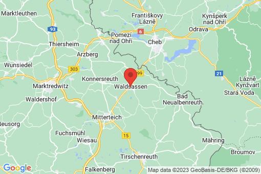 Karte Waldsassen