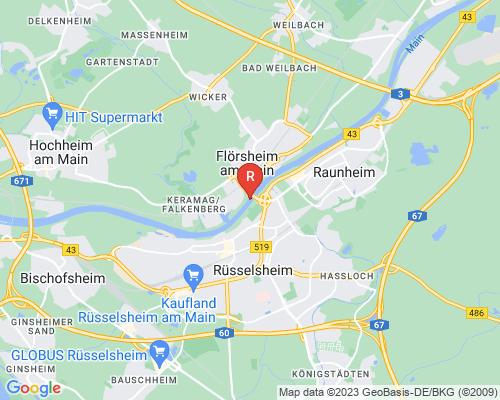 Google Karte von Rohrreinigung Flörsheim am Main