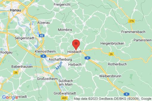 Karte Hösbach