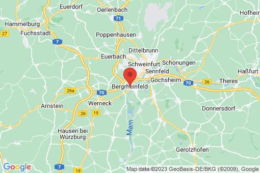 Karte Bergrheinfeld