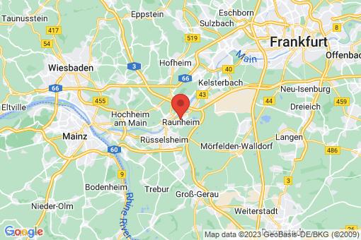 Karte Raunheim
